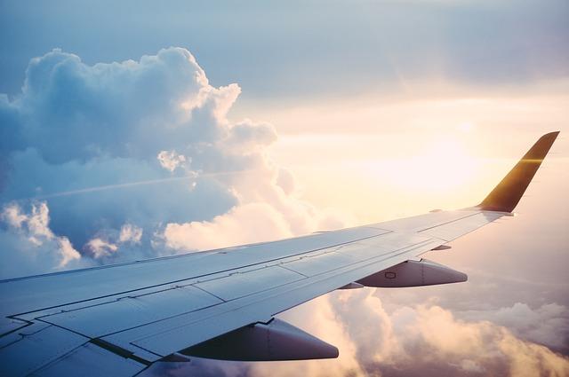 vliegtuig reis